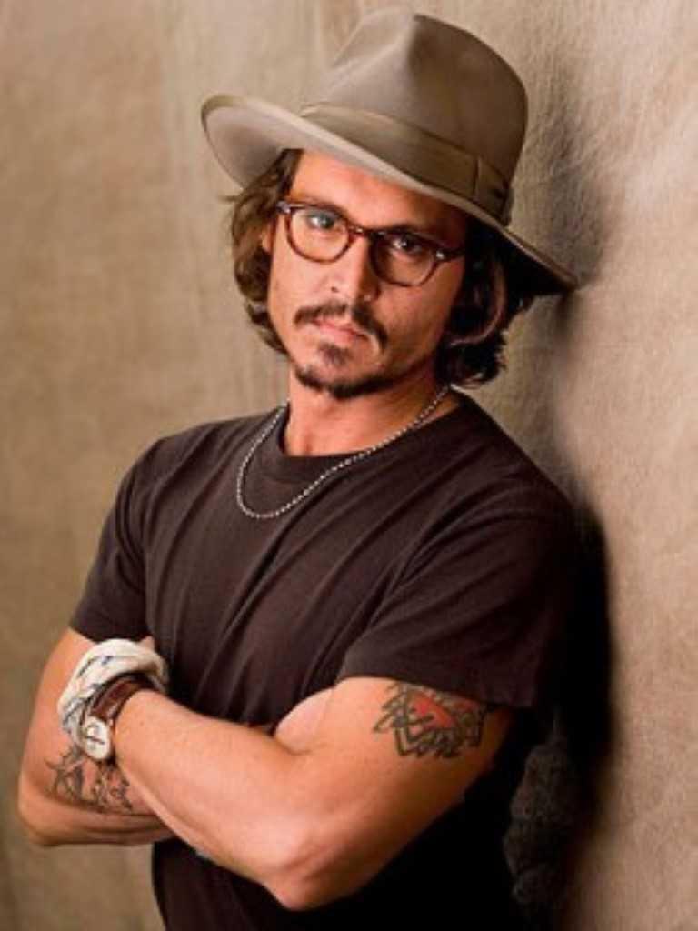 Johnny Depp Mittel-frisuren pra herbst 2014-2