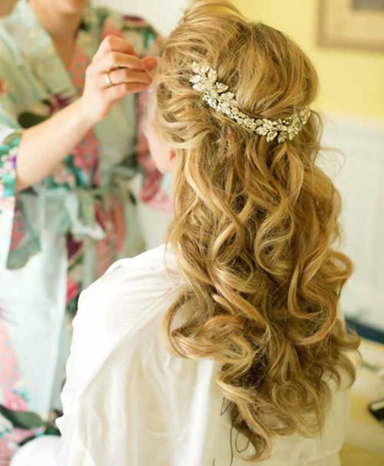 2. Braut-Hälfte Bis in die Haare mit Zubehör
