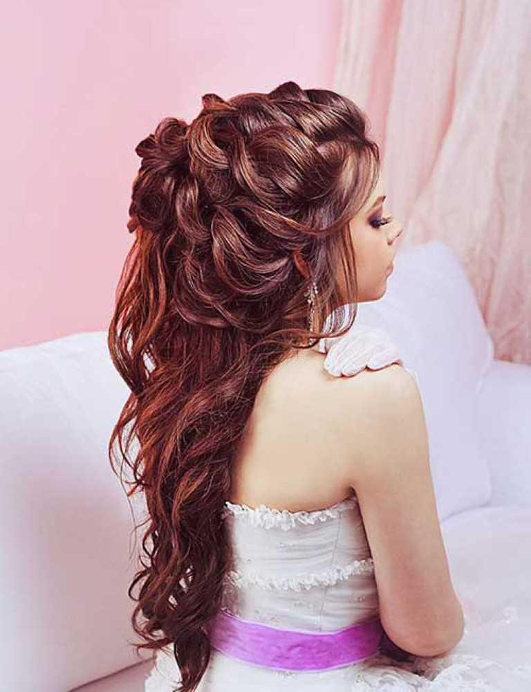 1. Hälfte Bis Halb Nach Unten Braut Lange Haare