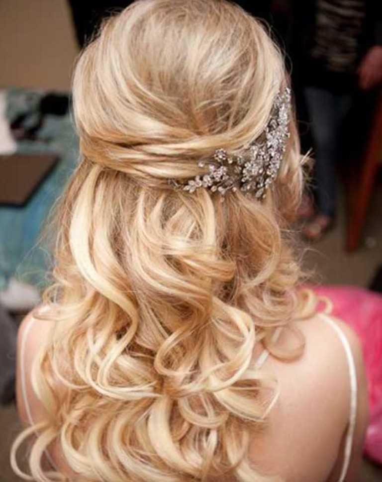 10. Die Hälfte Up Hochzeit Haar mit Zubehör