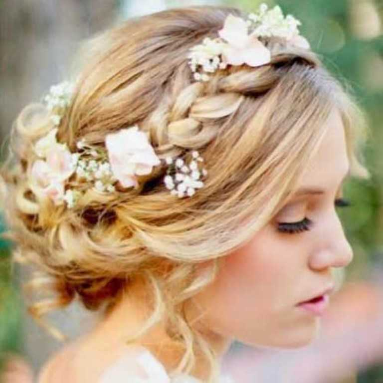 8. Geflochten Braut-Hochsteckfrisur für Frauen