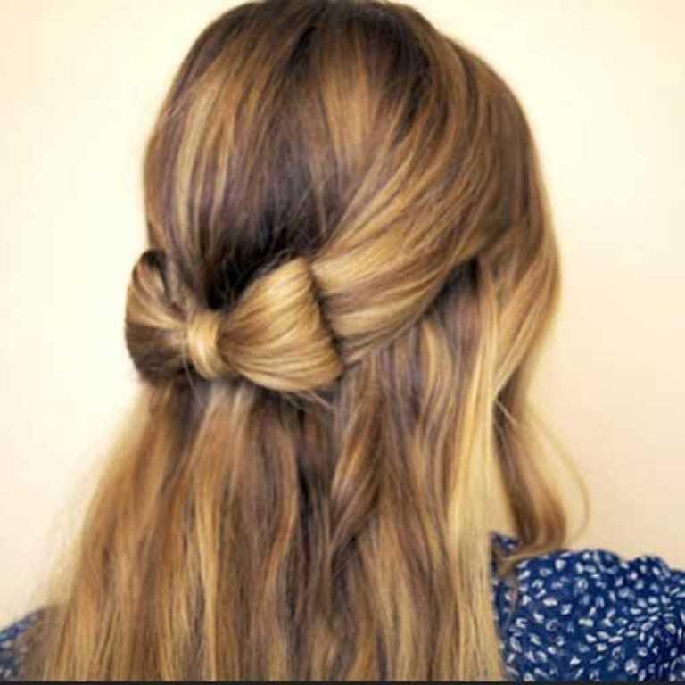11. Cute Ribbon nach Unten Frisur für Abschlussball