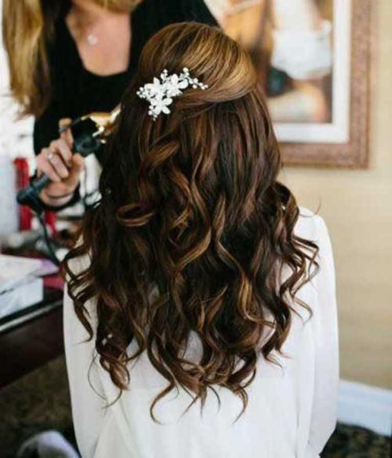 Frisur für Hochzeiten Lange Haare