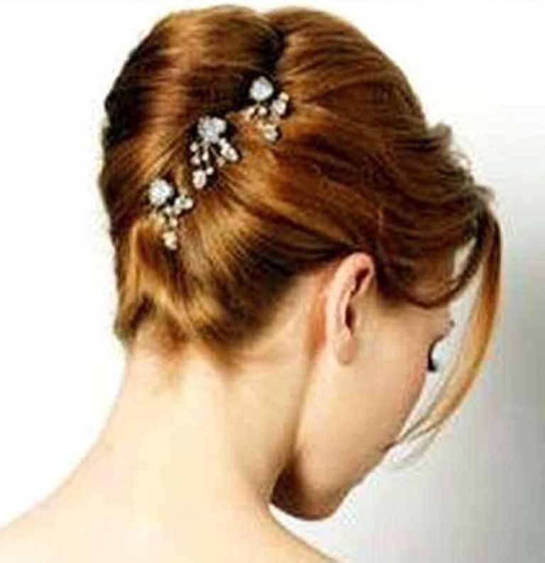 26. French Twist-Hochsteckfrisur Haar