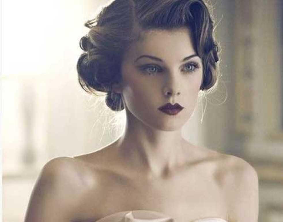 1. Vintage-Hochzeit Hochsteckfrisur Frisur
