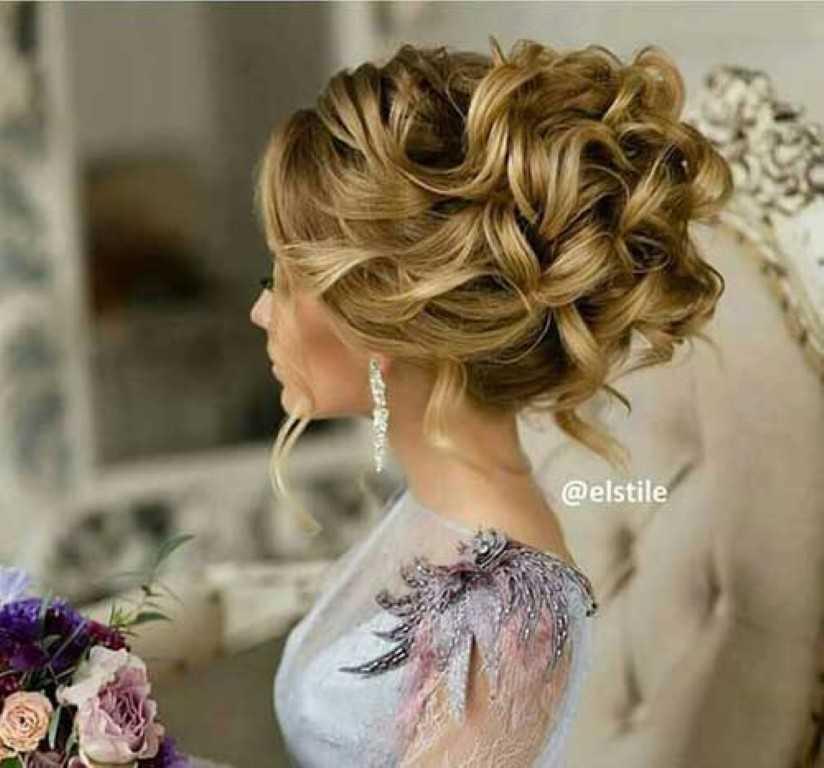 Big Bun Hochzeit Frisur für Frauen