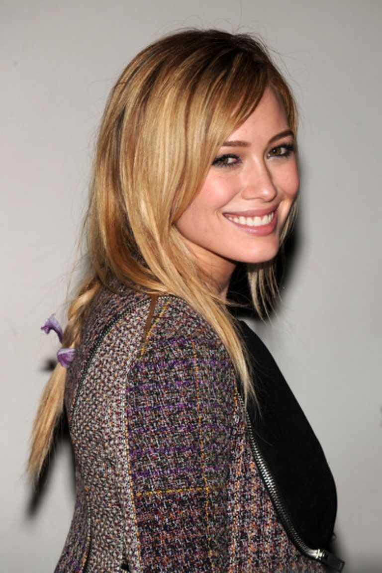 Hilary Duff Niedlich Medium Geflochtene Frisur-2-Promi-hübsch Geflochtene Frisur von Hilary Duff