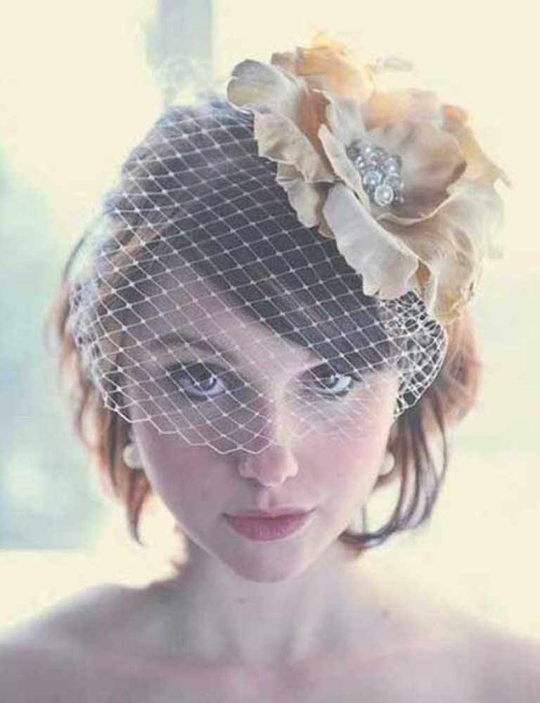 Kurzes Haar für Hochzeit