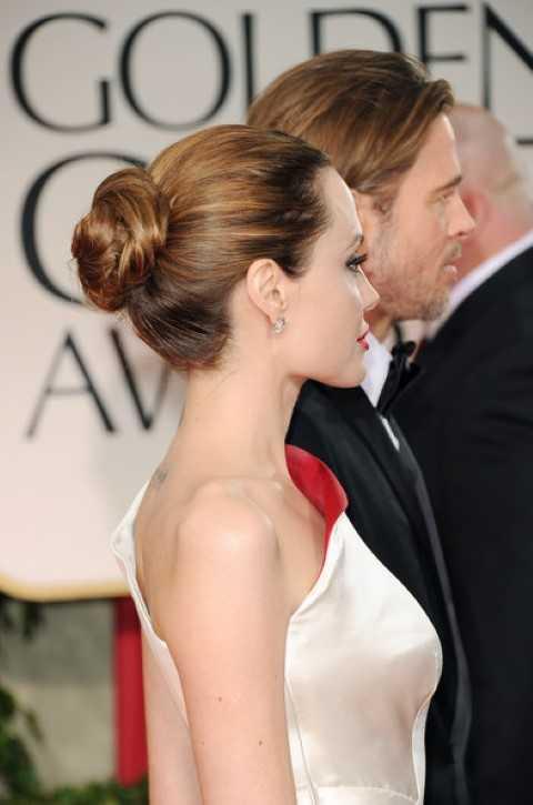 Angelina Jolie Einfache Bun Frisur