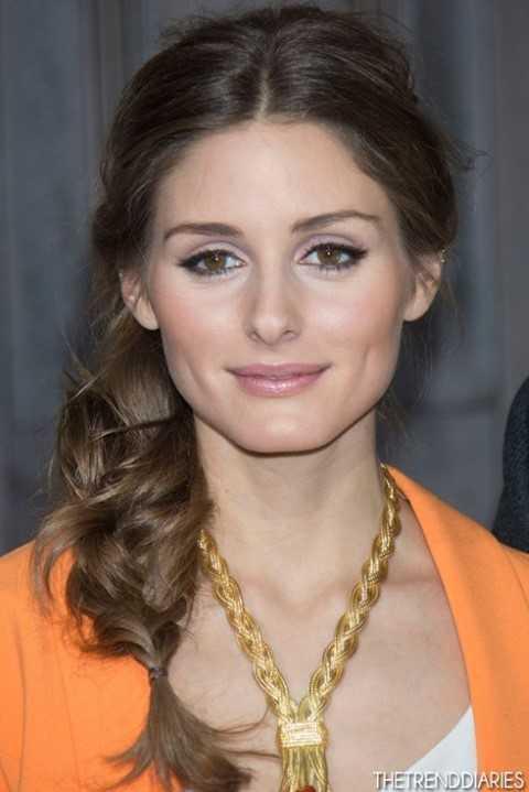 Einfach, seitlich geflochten Frisuren - Olivia Palermo-Haar