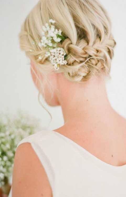Braut-Geflochtene Hochsteckfrisur für Kurze Haare
