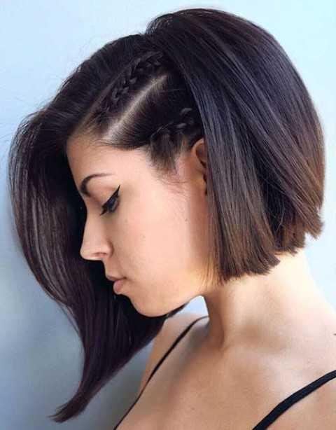 Muss Versuchen, Geflochtene Kurze Frisur-Anleitung für Mädchen-7