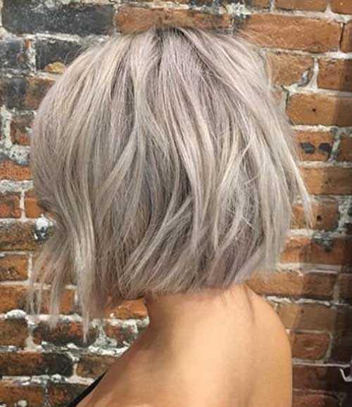 Kurze Asche-Blondine Grau Frisuren-10