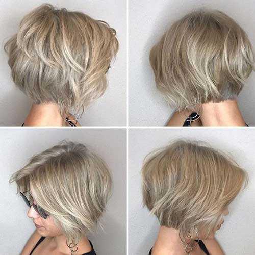 Leichten, Kurzen Asche Blonde Frisuren-12