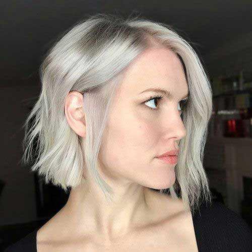 Kurze Asche-Blondine Blunt Frisuren-15