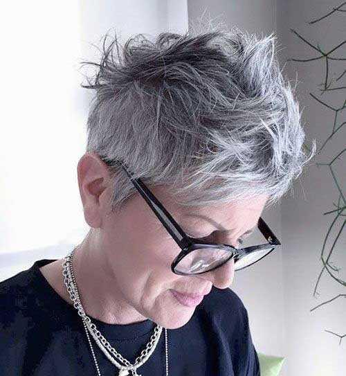 Kurzen Haarschnitt für Ältere Frauen-16