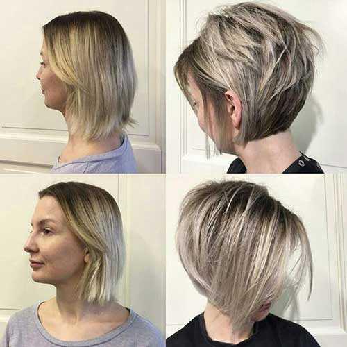 Chic Kurze Asche Blonde Frisuren-20
