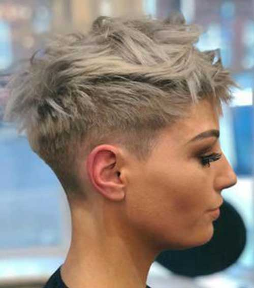 Kurze Asche-Blondine Pixie Frisuren-6