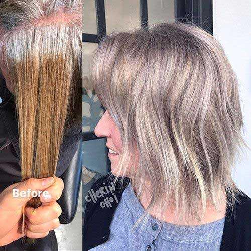 Ash Blonde Ombre Kurze Haare