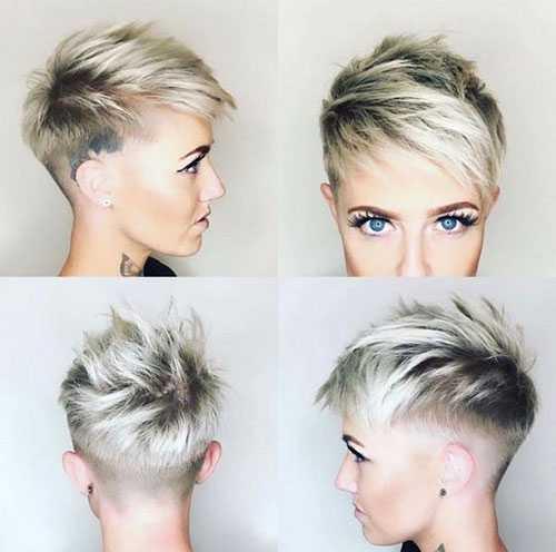 Rasiert Edgy Pixie Haarschnitte-10
