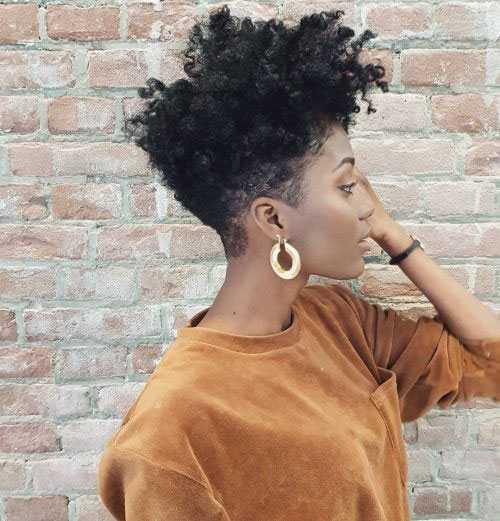 Tapered Natürliche Frisuren für Kurze Haare-14