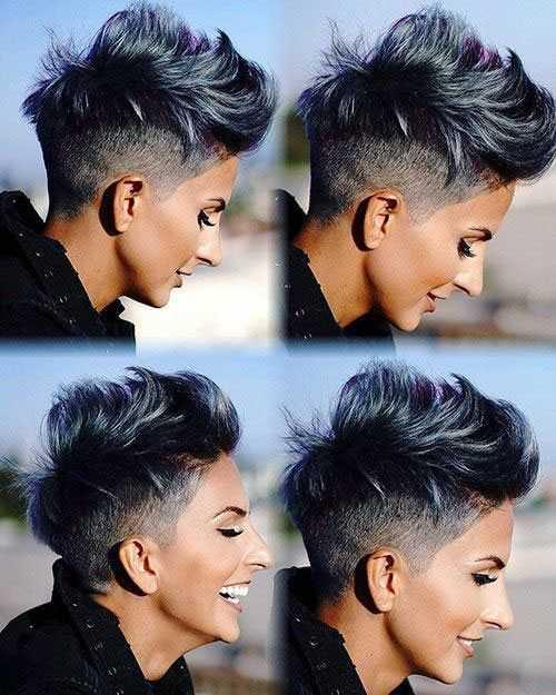 Edgy Kurze Haarschnitte für Frauen mit Dicken Haaren-15