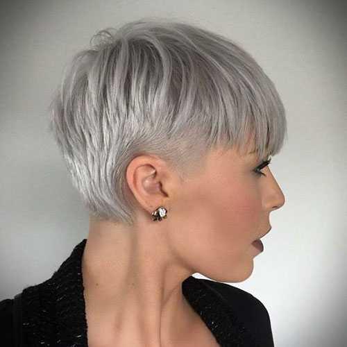 White Pixie Schnitte für Feines Haar-7