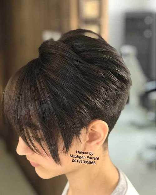 Kurze Pixie Bob Haarschnitte für Frauen mit Dicken Haaren-9