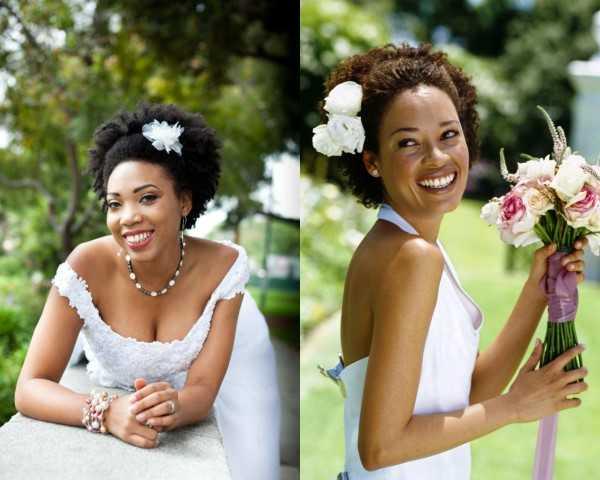 Schwarze Frauen Afro Hochzeit Frisuren-3
