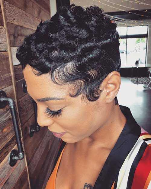 Pixie Frisuren für Schwarze Mädchen-11