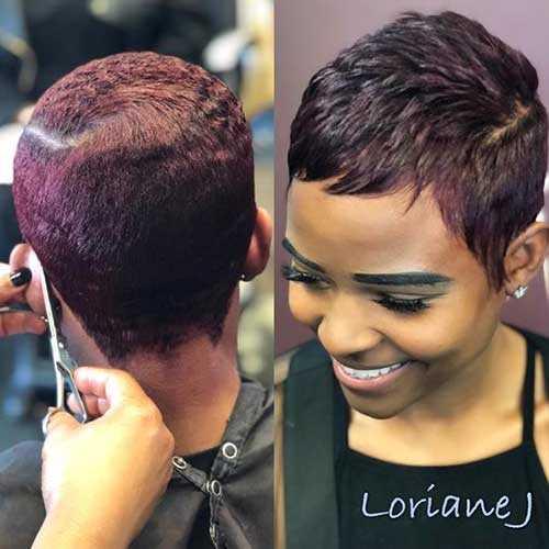 Pixie Haarschnitte für Schwarze Frauen-16