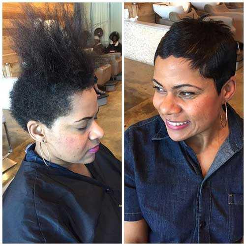 Vor und Nach Pixie Haarschnitte für Schwarze Frauen-9
